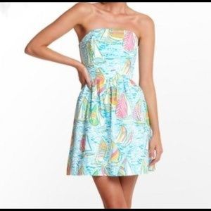 Lilly Pulitzer Strapless Dress You Gotta Regatta
